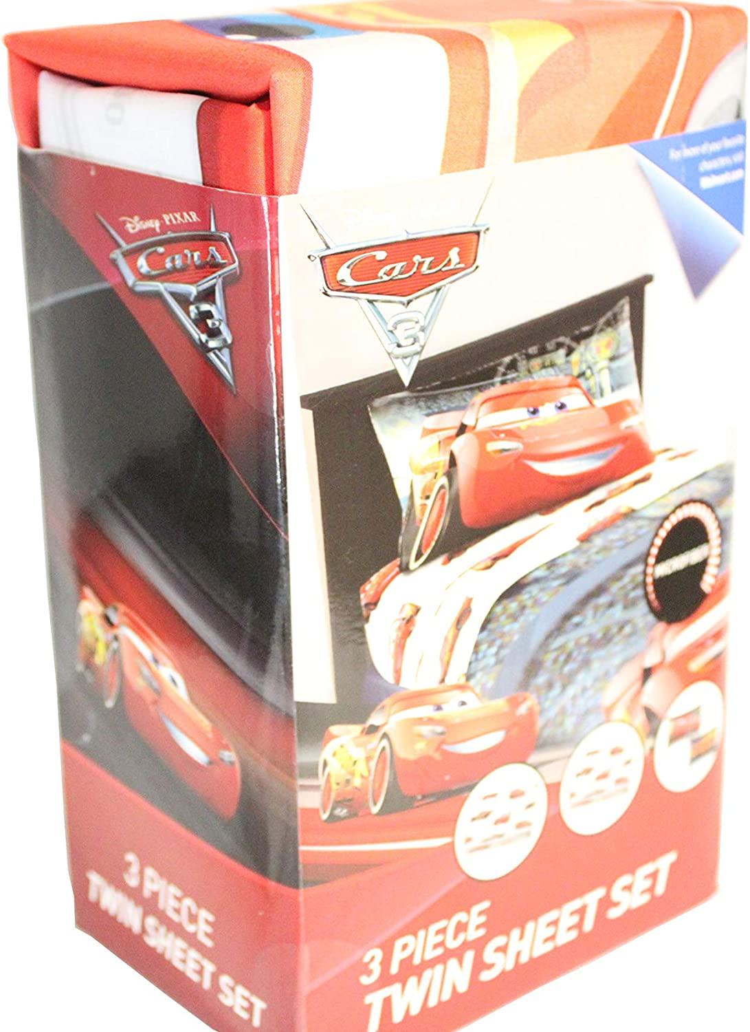 Disney Pixars Cars JF29586WM Twin Sheet Set, Kid's Bedding