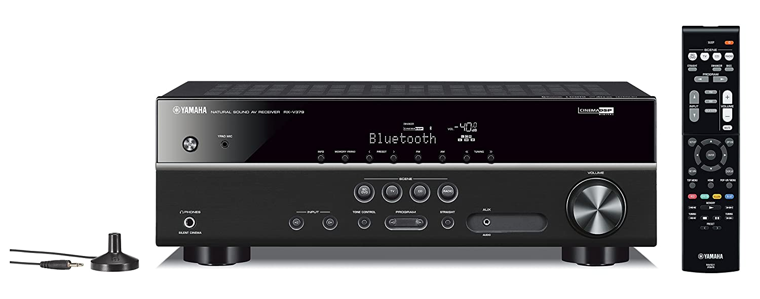 Amazon.com: Yamaha RX-V379BL 5.1-Channel A/V Receiver with Bluetooth: Home  Audio & Theater
