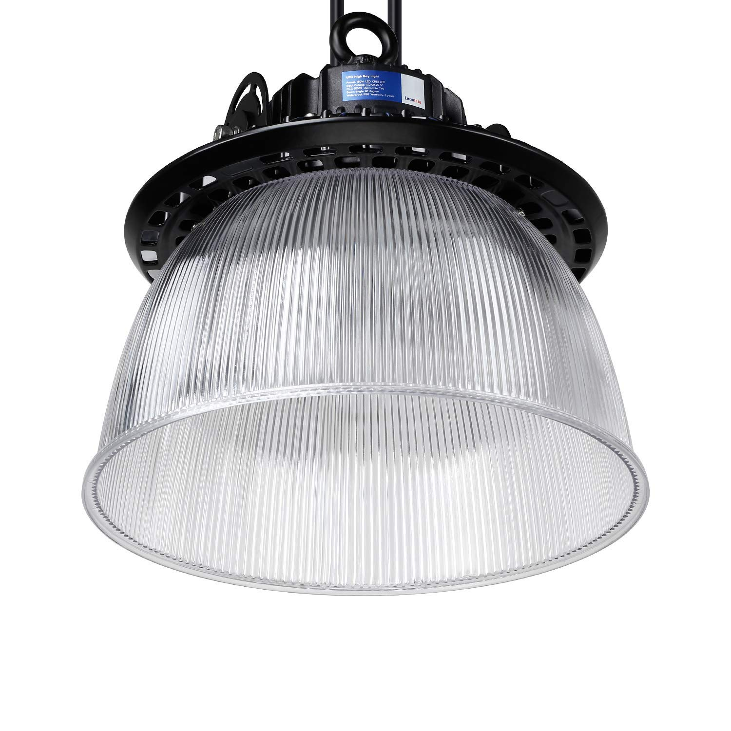 LEONLITE LED UFO High Bay Light, 21,450lm Ultra Bright, 150W (600W MHL/HID Equiv.), ETL & DLC Listed, Commercial/Industrial Lighting, 5 Years Warranty