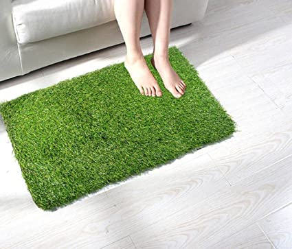 Hand Tex Home Artificial Soft & Durable Green Grass for Balcony, Lawn & Door 40 X 60 cm