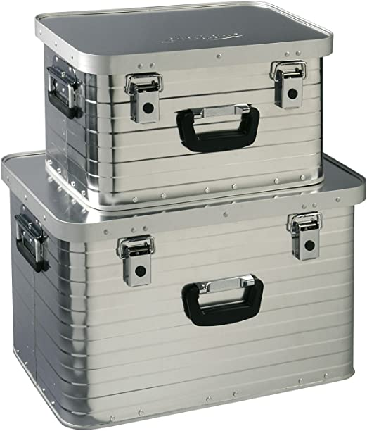 Heco Enders Toronto Storage Box Set 1 (29 l, 63 l), Silver: Amazon.es: Jardín