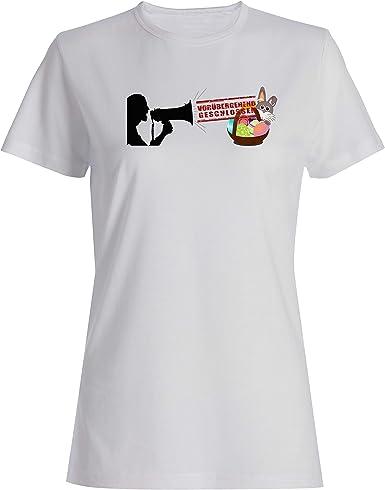Camiseta para mujer cerrada de antemano.: Amazon.es: Ropa y accesorios
