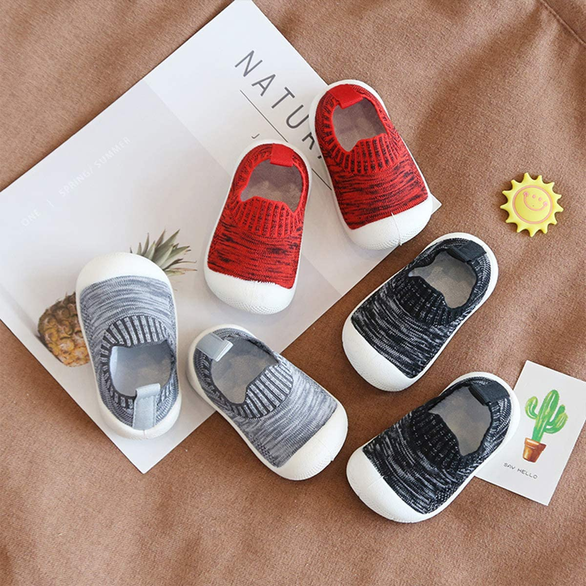 DEBAIJIA Chaussures pour Tout-Petits 1-4T B/éb/é Enfants Marche Baskets Respirantes Mesh Semelle Souple Antid/érapante Mat/ériau TPR l/éger