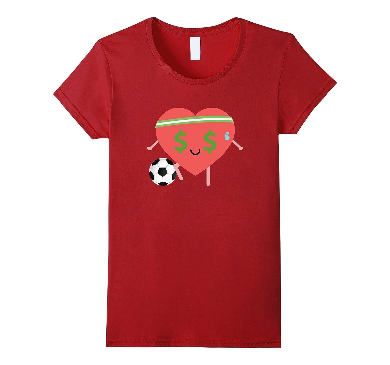 Soccer Heart Emoji Money Face Shirt T-Shirt Football Tee-Teevkd