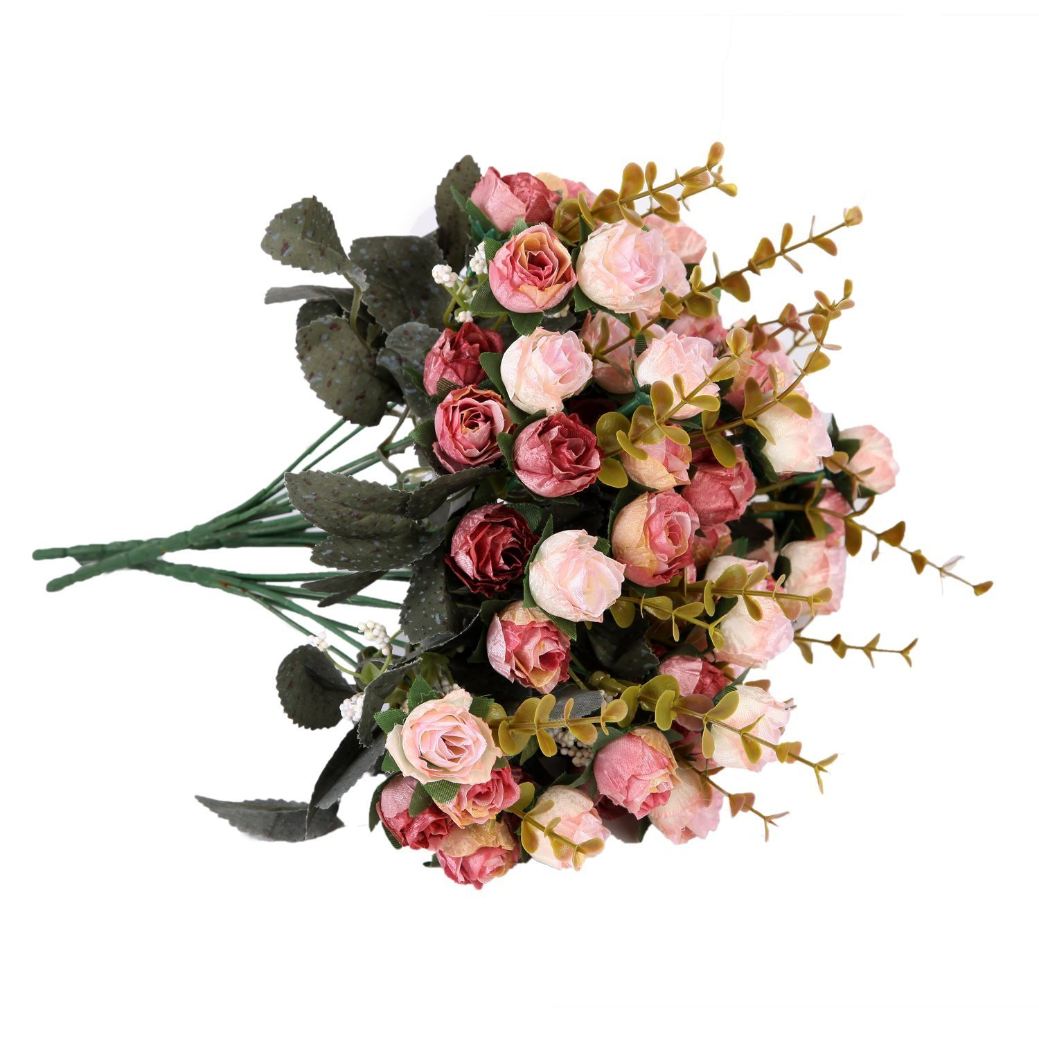 Houda rose artificial flowers bouquets 9 heads fake flowers silk houda rose artificial flowers bouquets 9 heads fake flowers silk roses bridal wedding bouquet for home izmirmasajfo