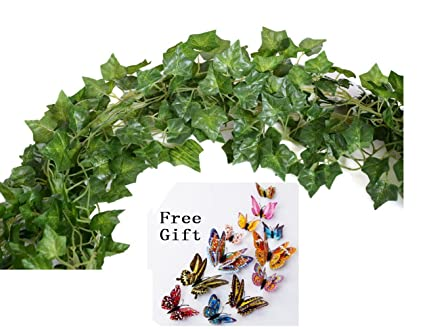 Amazon big value artificial fake hanging plant leaves garland big value artificial fake hanging plant leaves garland home garden wall decoration english ivy silk greenery mightylinksfo