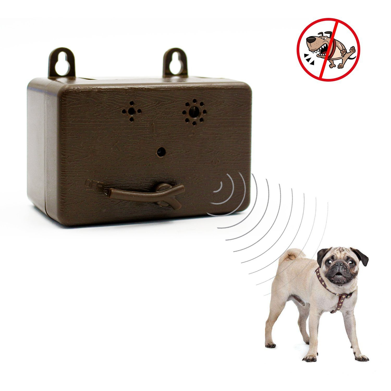 Harmless Ultrasonic Dog Bark Control Devices by Waterproof Outdoor Anti Dog Bark Controller, Ultrasonic Training Dog devices, Bark Stop Repeller Silence Dog Training Control Repellent