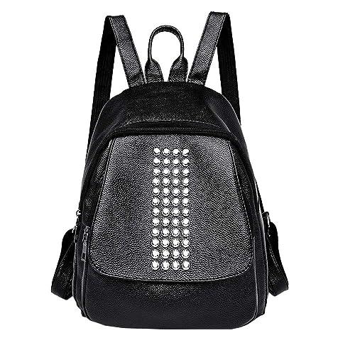 340157b3a752 Amazon.com  Women s Rivets Leather Backpack