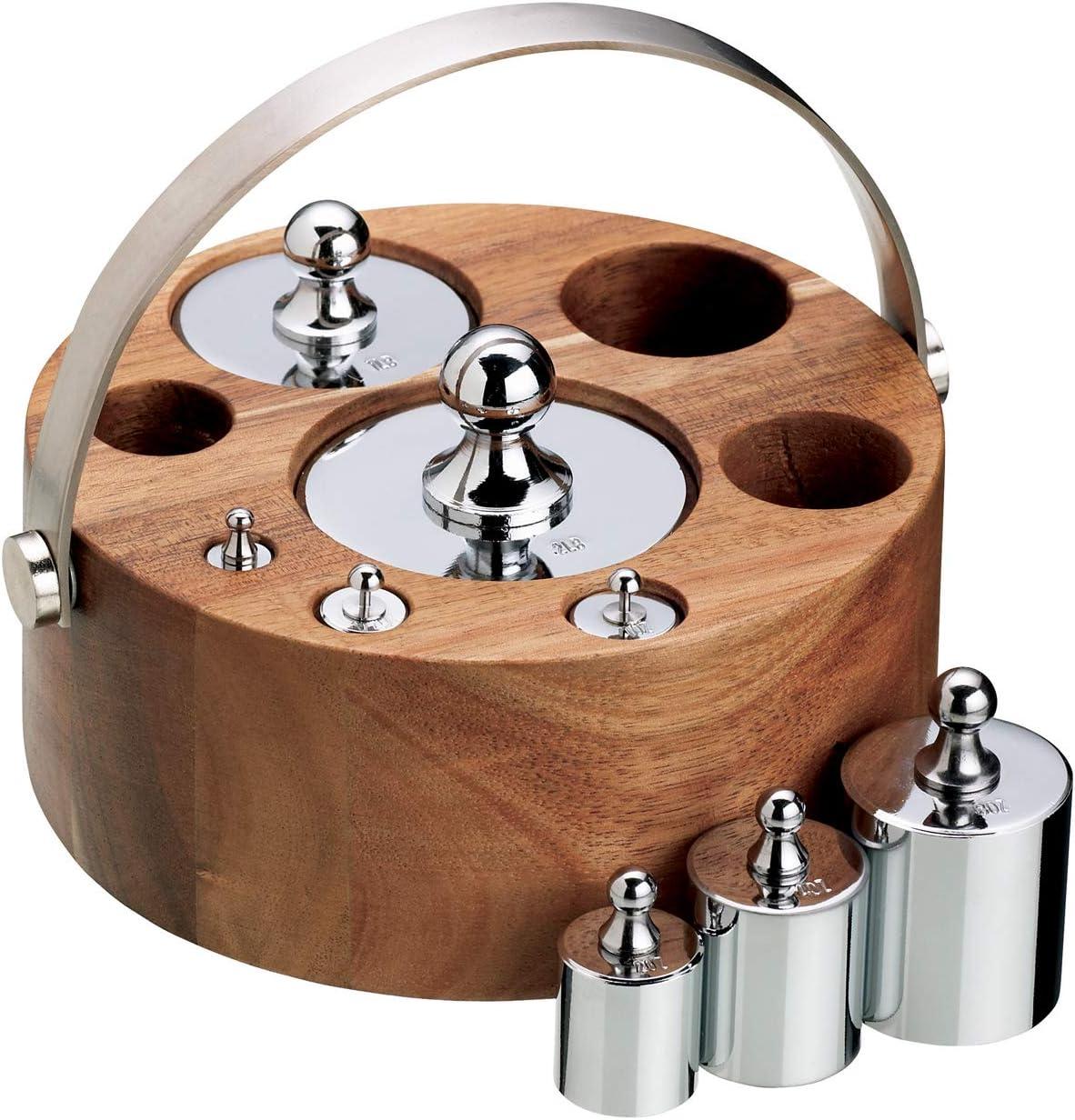 Kitchen Craft NEWGTIMP8 - Pesos para balanza (8 Piezas, Sistema Imperial, Soporte con Asas de Metal): Amazon.es