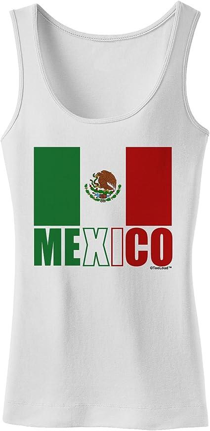 TooLoud Mexico Outline Mexican Flag Dark Hoodie Sweatshirt