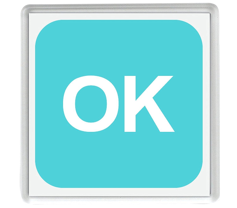 IamEngland Cuadrado Ok Emoji 58mm x 58mm Nevera imán/Squared Ok ...