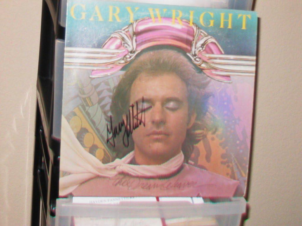 """GARY WRIGHT signed""""Dream Weaver"""" album cover/Spooky Tooth"""