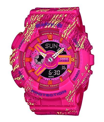 CASIO Reloj Analógico-Digital para Mujer de Cuarzo con Correa en Plástico BA-110TX-4AER: Amazon.es: Relojes