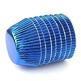 Eoonfirst Navy Blue Foil Metallic Cupcake Case