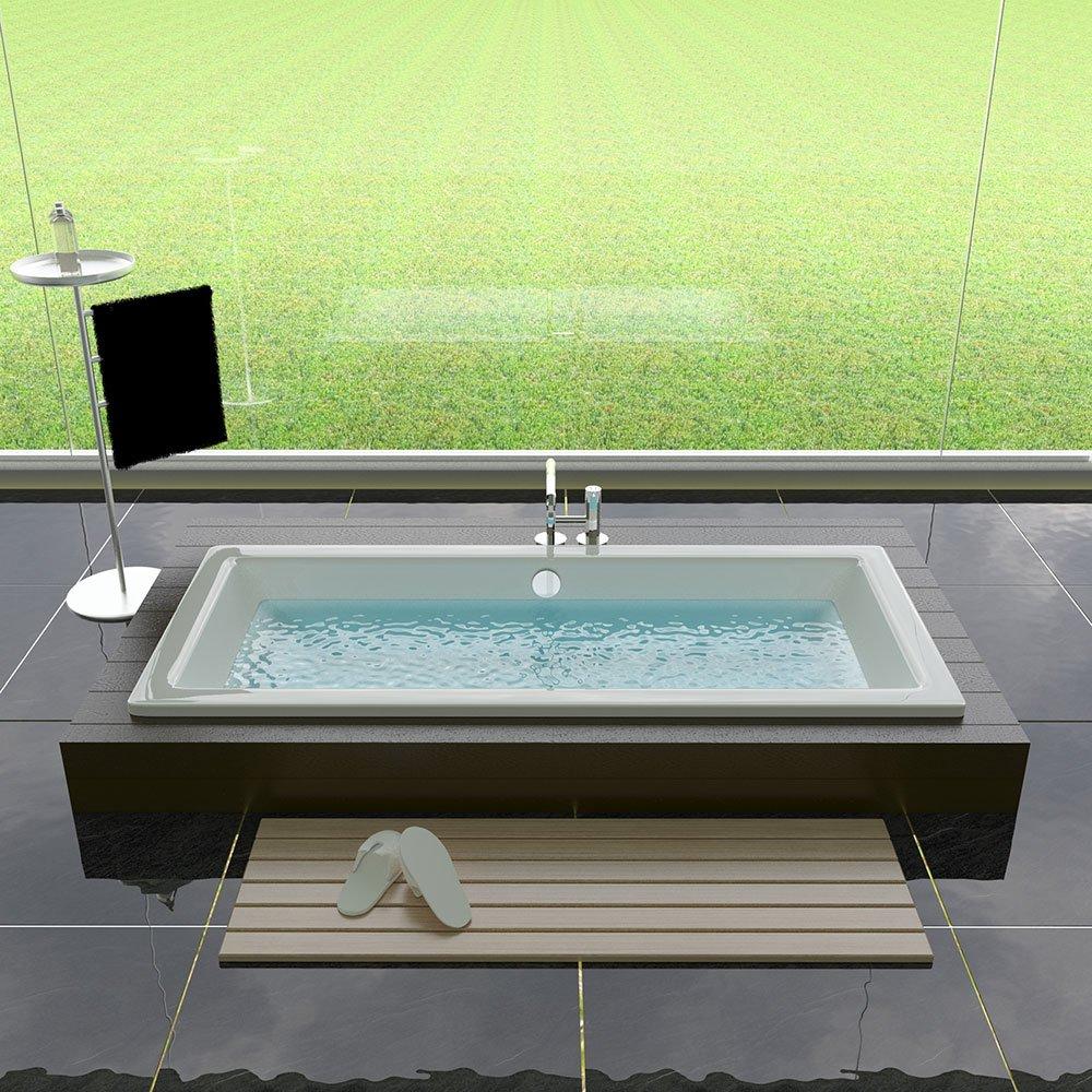 1700 x 750 x 475 mm Ma/ße Rechteckige Design Badewanne aus Acryl