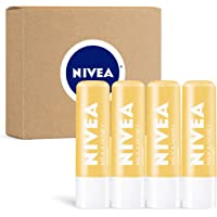 Deals on 4 Pack Nivea Milk & Honey Lip Care  0.17 oz Tube