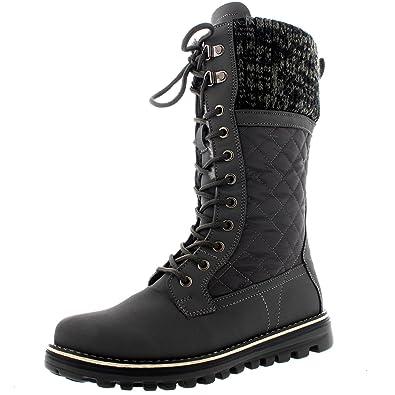 663262b3dade Polar Womens Winter Thermal Snow Outdoor Warm Mid Calf Waterproof Durable  Boot - Gray - US5