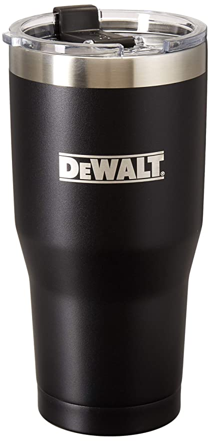 c61a2143709 Image Unavailable. Image not available for. Color: DEWALT Stainless Steel  Tumbler, Black, 30 Ounce