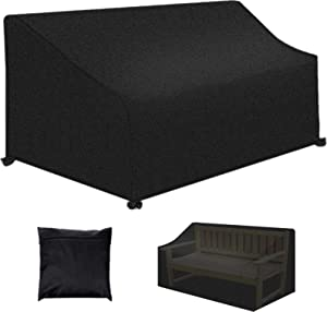 Patio Bench Loveseat Cover, Outdoor 3-Seater Durable and Waterproof Patio Furniture Sofa Cover, 26