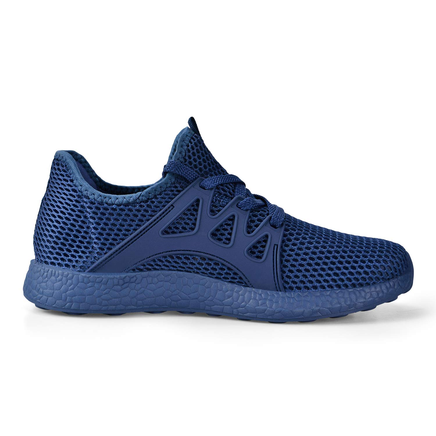 Feetmat Womens Sneakers Ultra Lightweight Breathable Mesh Athletic Walking Running Shoes Blue 12 by Feetmat