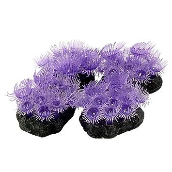 Saim Acuario Tanque de peces silicona mar anémonas Artificial Coral ...