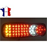 PAIRE 45 LED 12V FEUX ARRIERES CAMION REMORQUE FOURGON CHASSIS 5 FONCTONS