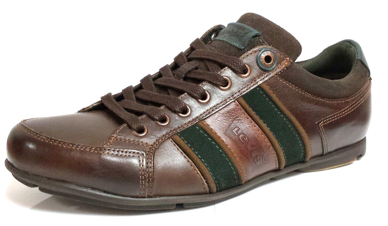 Mens Suede New 222549 Brown Baldo Trainers Dark Leather