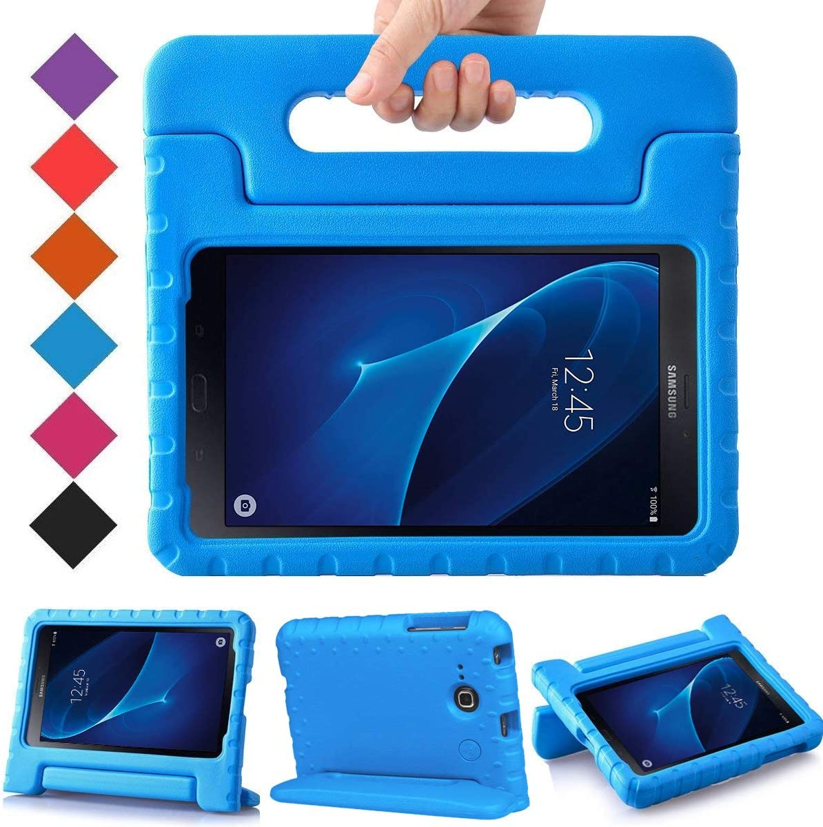 Amazon Com Bmouo Kids Case For Samsung Galaxy Tab A 7 0 Eva Shockproof Case Light Weight Kids Case Super Protection Cover Handle Stand Case For Kids Children For Samsung Galaxy Tab A