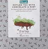 Dilmah Vivid Ceylon Tea with Chocolate and Mint Teabag Refill Box, 40 Grams