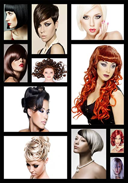 A0 sizes A1 Hairdressers hair salon advertising collage customised poster A2