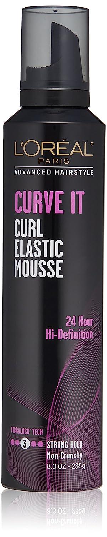 L'Oréal Paris Advanced Hairstyle CURVE IT Curl Elastic Mousse, 8.3 oz.