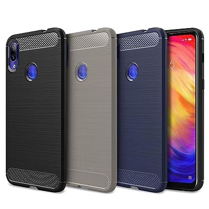 Yosemy [3 Pack] Funda Xiaomi Redmi Note 7 Silicona, Carcasa Xiaomi Redmi Note 7 antigolpes Suave TPU Fibra de Carbono Case Cover para Xiaomi Redmi ...