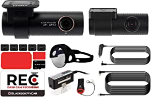 Blackvue DR900S-2CH with Power Magic EZ OBD-II Hardwire Kit Dual-Channel   4K Dashcam   16GB SD Card   CPL Filter Included