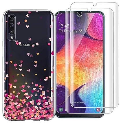 Amazon.com: Funda para Samsung Galaxy A50 (3 en 1) + 2 ...