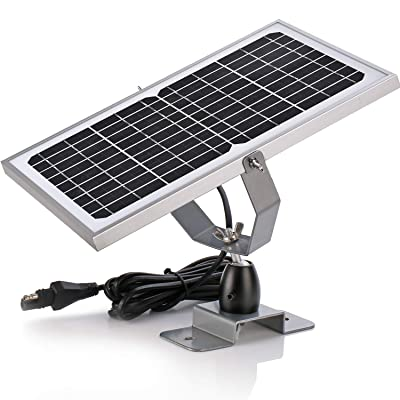 SUNER POWER 12V Waterproof Solar Battery Trickle Charger & Maintainer - 10 Watts Solar Panel Built-in Intelligent MPPT Solar Charge Controller + Adjustable Mount Bracket + SAE Connection Cable Kits : Garden & Outdoor