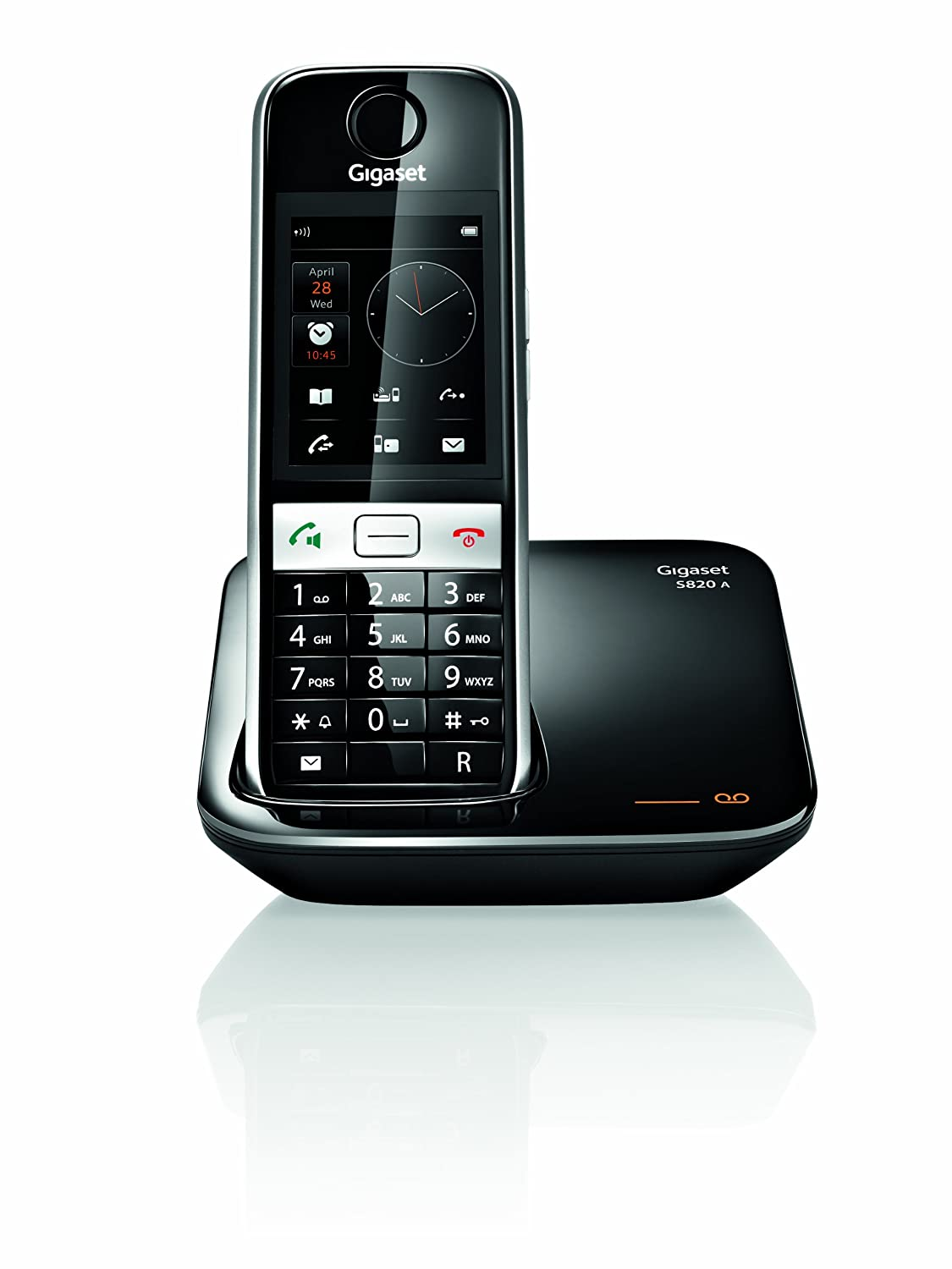 Gigaset S820A Cordless DECT Phone with Touch Screen: Amazon.co.uk:  Electronics