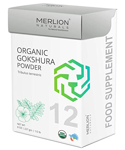 Organic Gokshura Powder by Merlion Naturals Tribulus terrestris 227gm 8OZ 1 2lb USDA NOP Certified 100 Organic