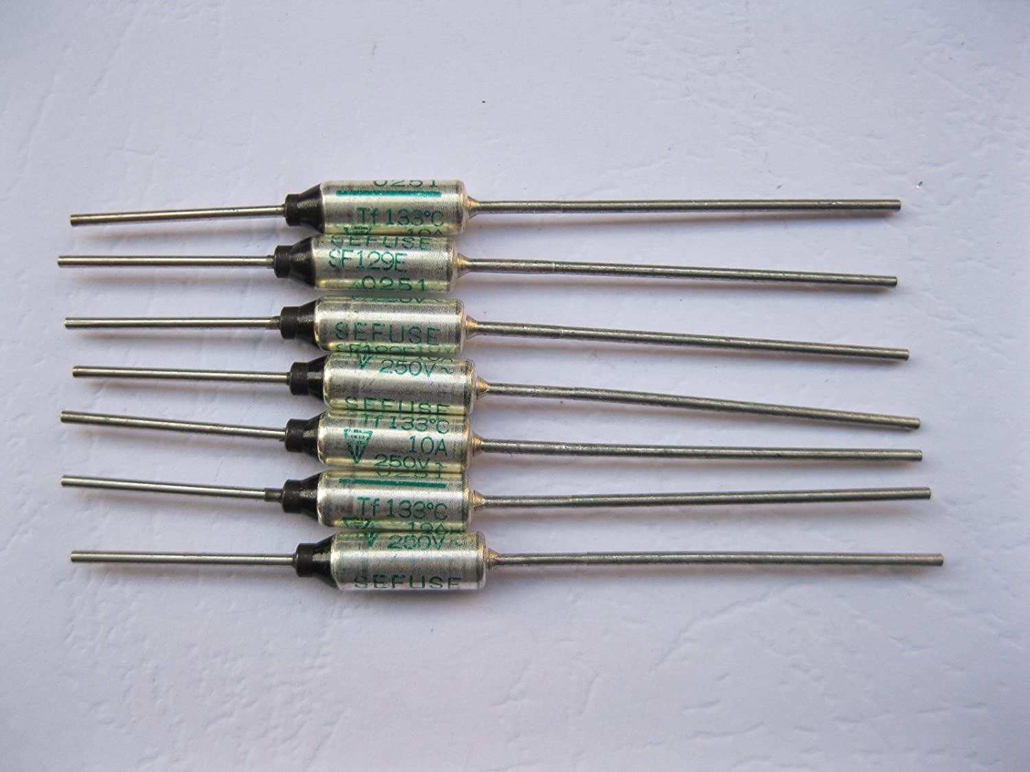 five 15A by 120V THERMAL CUTOFF FUSE 139°C degree LOT of 5