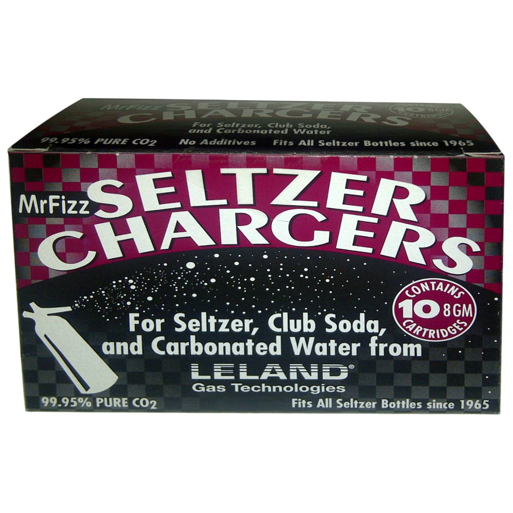 300 Leland Mr Fizz 8 Gram CO2 Soda Siphon Seltzer Chargers Compatible With All 1 Liter/Quart Soda Siphons