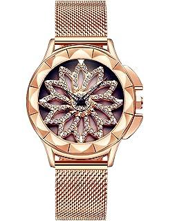 Reloj Mujer Dorado Moda Relojes Para Mujer Reloj Damas De Malla Impermeable Relojes De Pulsera De