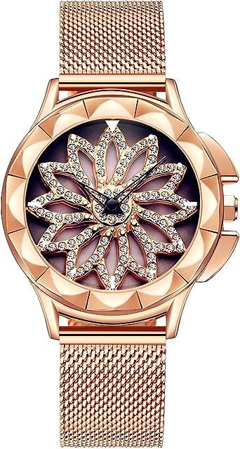 Reloj Mujer Dorado Moda Relojes Para Mujer Reloj Damas De ...