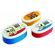 """Skater Peanuts""""Snoopy's Beagle Hug"""" Food Containers, Set of 3"""