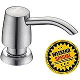 Avola 13 OZ Built In Deck Mount Kitchen Soap Dispenser, Commercial Modern Lotion Dispenser, Brushed Nickel