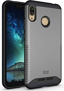 TUDIA BLU VIVO XL4 Case, Slim-Fit Heavy Duty [Merge] Extreme Protection/Rugged but Slim Dual Layer Case for BLU VIVO XL4 [NOT Compatible with VIVO XL or XI+] (Metallic Slate)