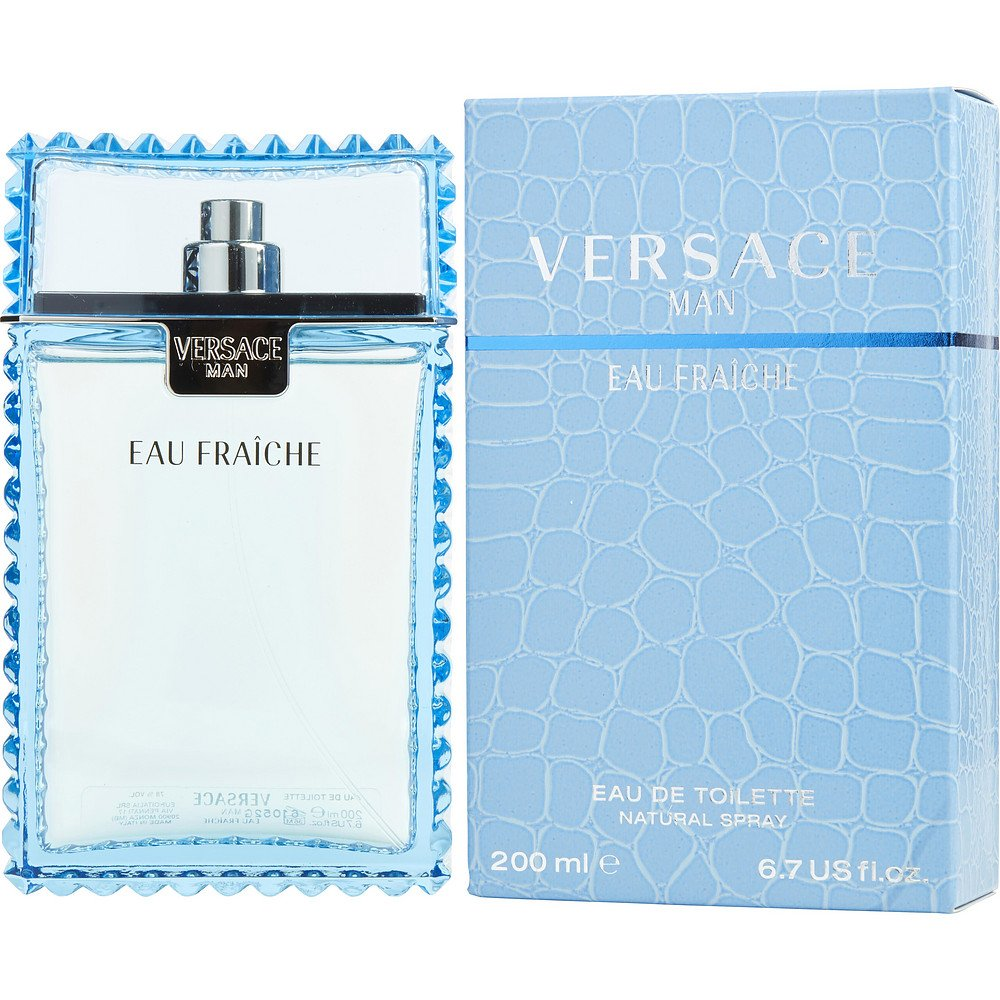 VERSACE MAN EAU FRAICHE by Gianni Versace EDT SPRAY 6.7 OZ (Package Of 3)