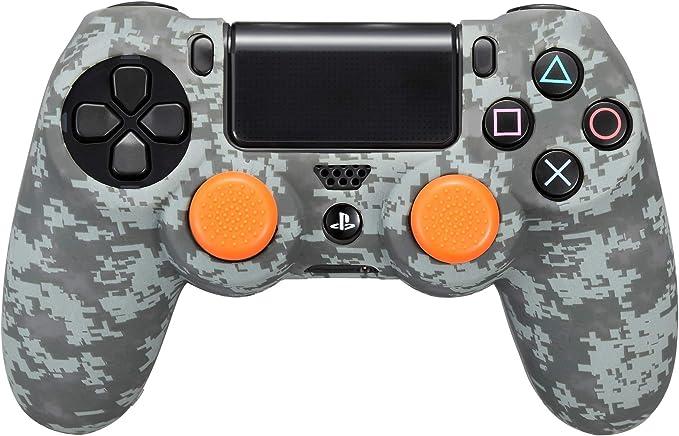 FR·TEC - Funda camuflaje de silicona Digital Black para el mando Dualshock 4 + Grips - PS4: Amazon.es: Videojuegos