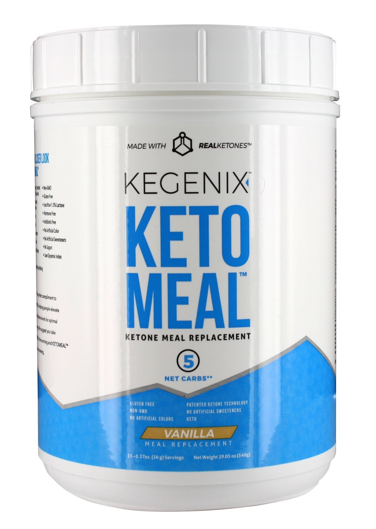 Keto Meal Replacement with BHB, MCT, and Protein Vanilla Flavor
