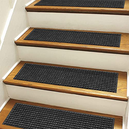 Orvis Recycled Water Trapper Grid Stair Treads, Set of Four Only Recycled Water Trapper Grid Stair Treads, Set of Four, Charcoal