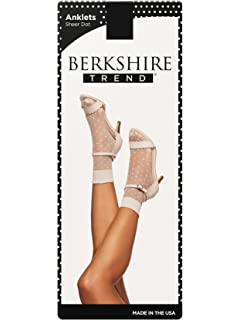 Berkshire Plus Size Microfiber Opaque Anklet With Scallop Top