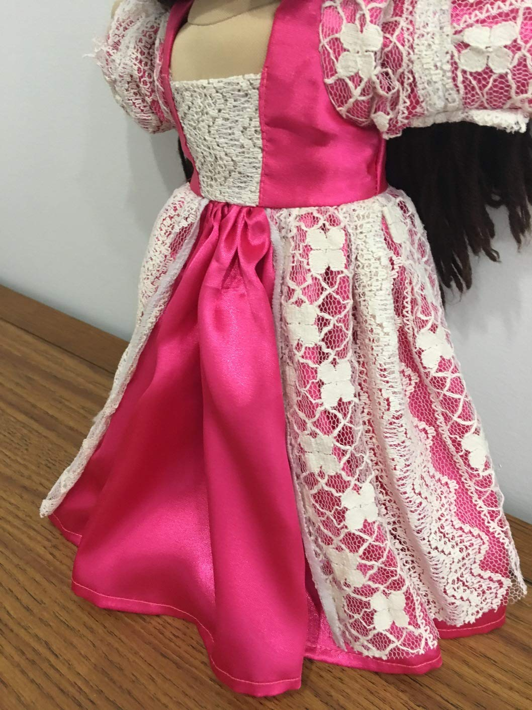 Dress Fits16 17 18 Cabbage Patch Kids Doll Clothes Gown Pink Colonial Renaissance Dress Handmade NO DOLL